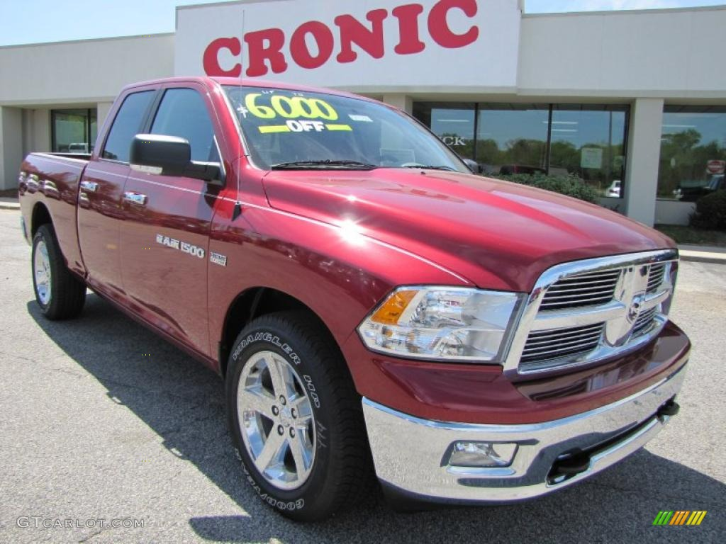 2011 Ram 1500 Big Horn Quad Cab - Deep Cherry Red Crystal Pearl / Dark Slate Gray/Medium Graystone photo #1