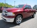 2011 Deep Cherry Red Crystal Pearl Dodge Ram 1500 Big Horn Quad Cab  photo #3