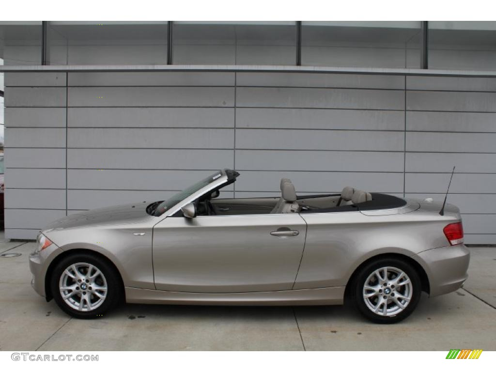 cashmere silver metallic 2008 bmw 1 series 128i convertible exterior photo 47752553. Black Bedroom Furniture Sets. Home Design Ideas
