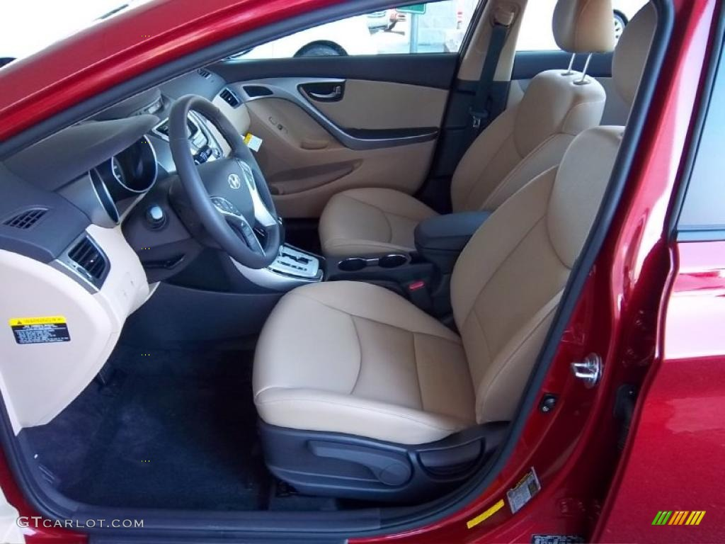 Beige Interior 2011 Hyundai Elantra Limited Photo 47754935