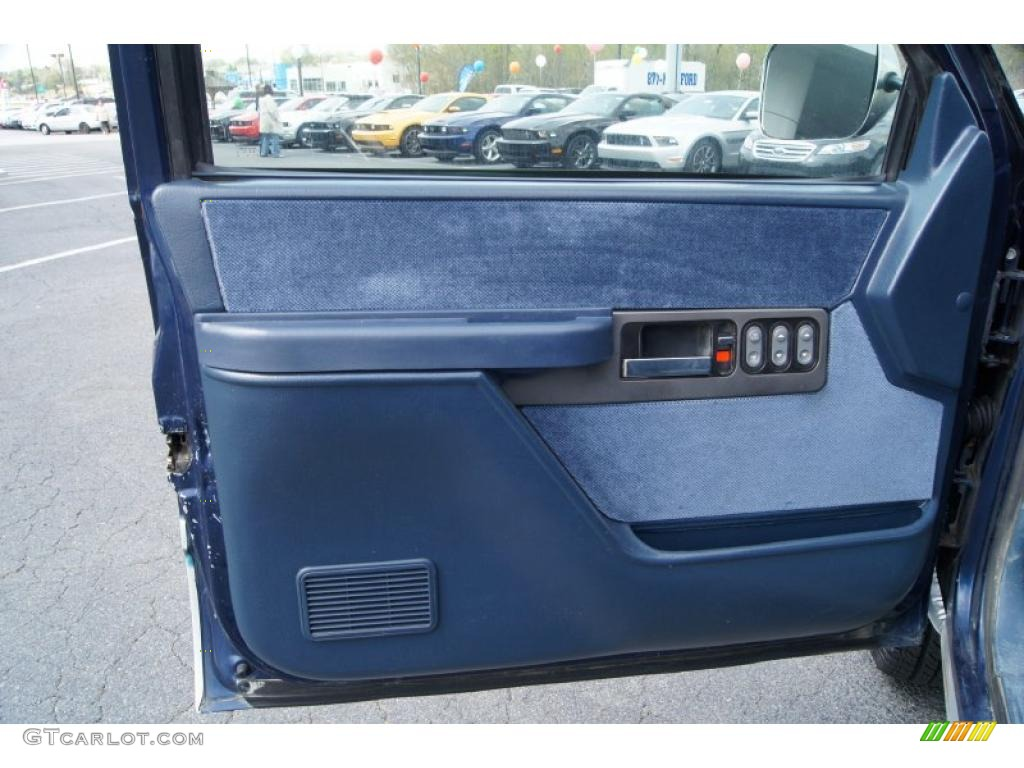 1994 Chevrolet C K K1500 Z71 Regular Cab 4x4 Blue Door Panel