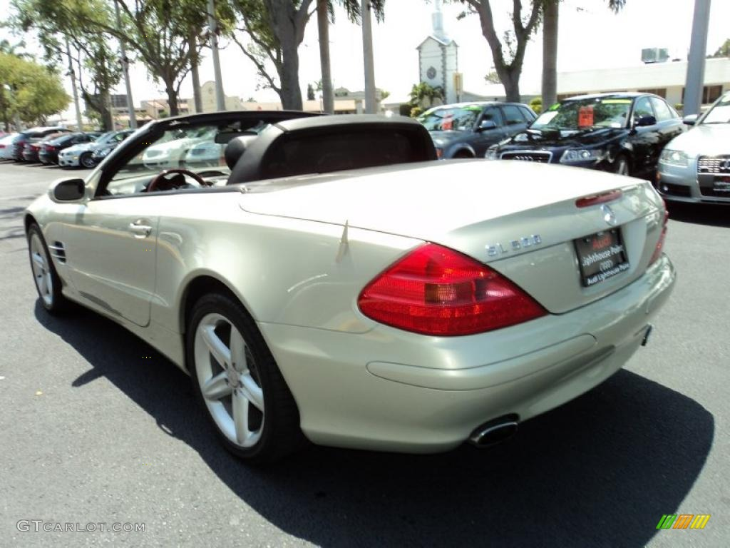 2003 designo silver metallic mercedes benz sl 500 roadster for Mercedes benz sl 500 2003