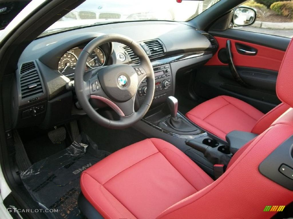 Coral Red Interior 2011 Bmw 1 Series 128i Convertible Photo 47814689