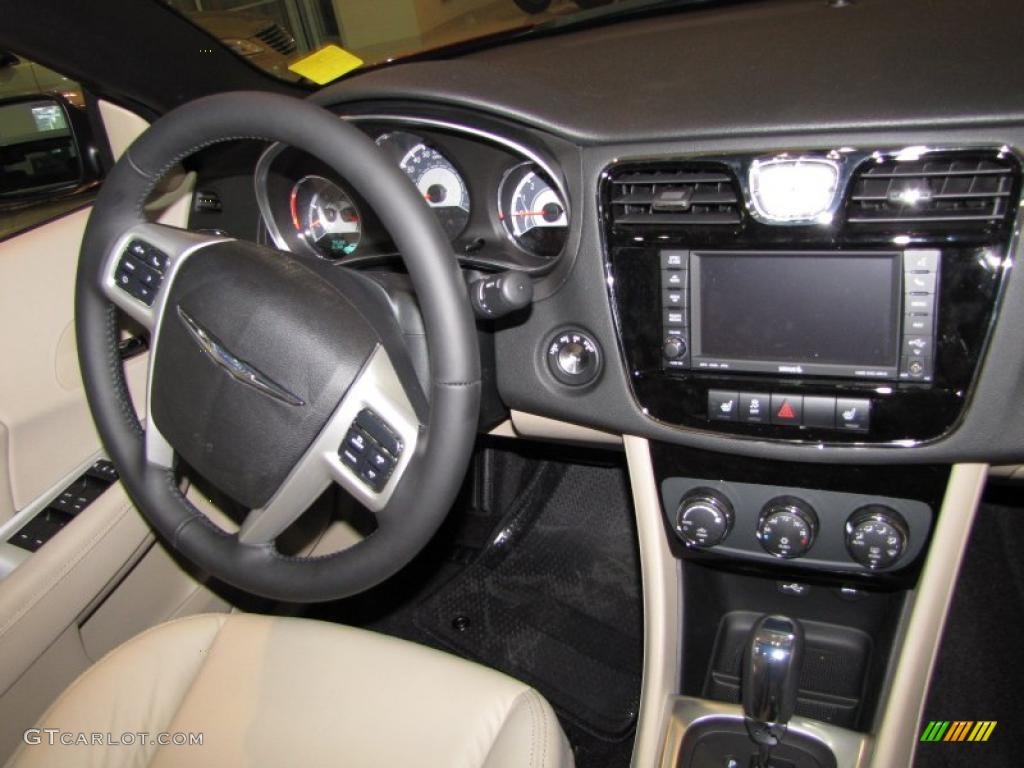 2011 chrysler 200 limited convertible black light frost beige dashboard photo 47836263. Black Bedroom Furniture Sets. Home Design Ideas
