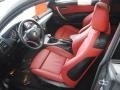 2009 1 Series 128i Coupe Coral Red Boston Leather Interior