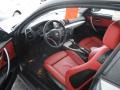 2009 BMW 1 Series Coral Red Boston Leather Interior Prime Interior Photo