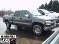2002 Medium Charcoal Gray Metallic Chevrolet Silverado 1500 LT Crew Cab 4x4  photo #1