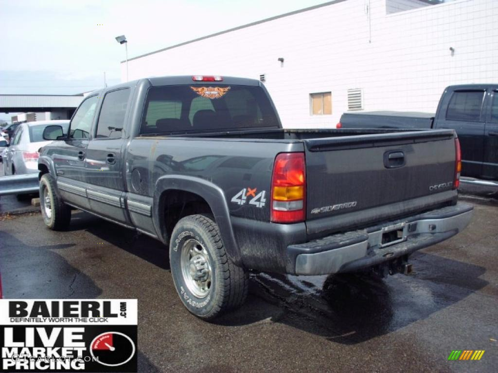 2002 Silverado 1500 LT Crew Cab 4x4 - Medium Charcoal Gray Metallic / Graphite Gray photo #3