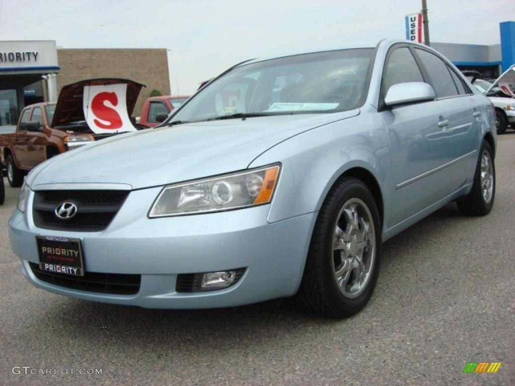 2006 Silver Blue Metallic Hyundai Sonata Gls V6 47831160