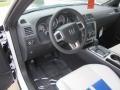 2011 Dodge Challenger Pearl White/Blue Interior Prime Interior Photo