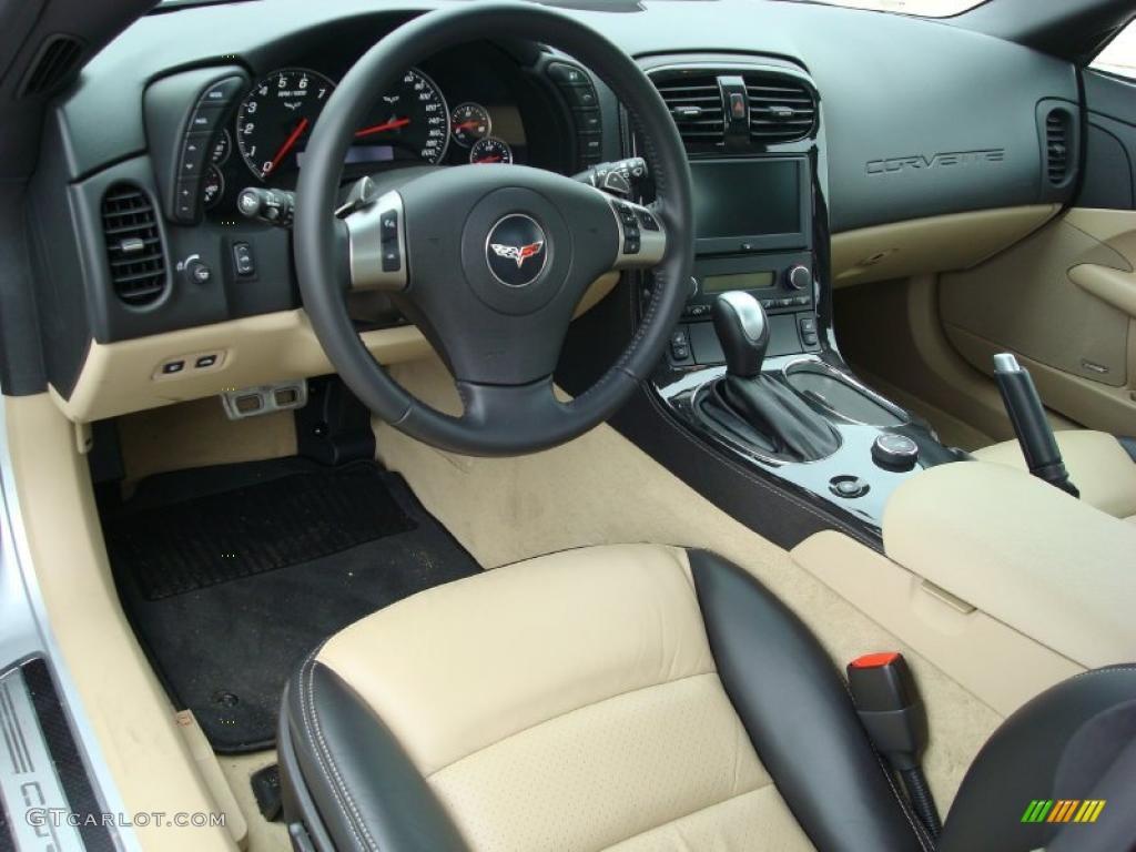 Ebony Black Cashmere Interior 2011 Chevrolet Corvette