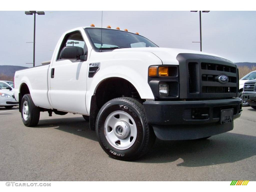 oxford white 2008 ford f250 super duty xl regular cab 4x4 exterior photo 47868479. Black Bedroom Furniture Sets. Home Design Ideas