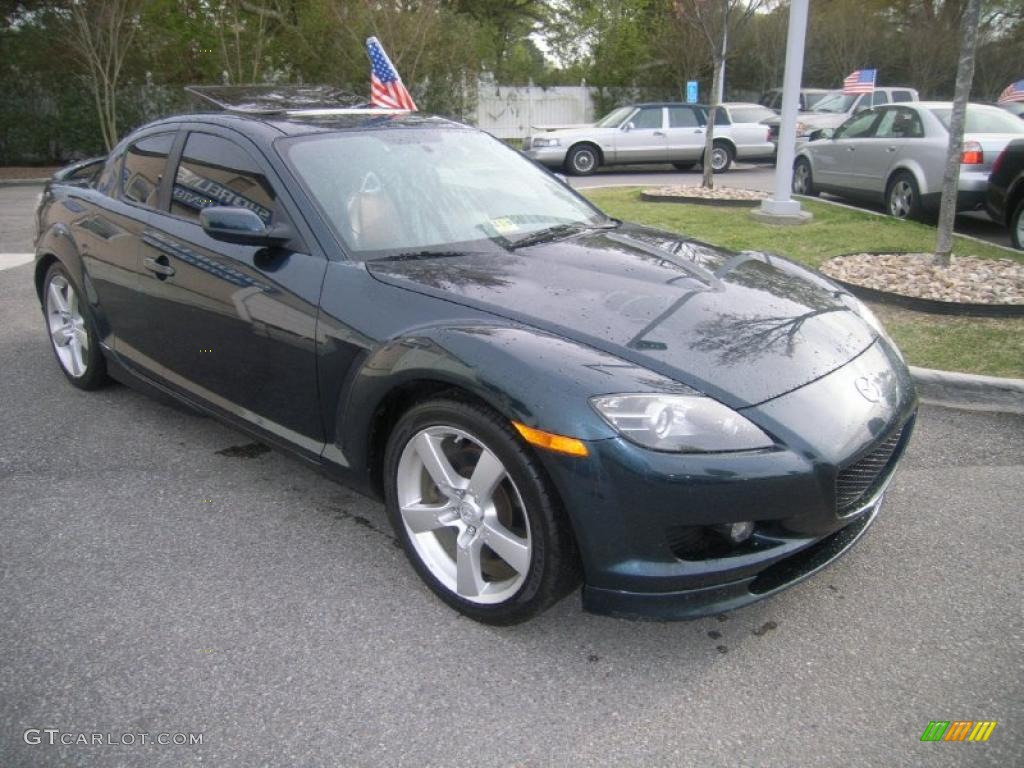 nordic green mica 2005 mazda rx 8 standard rx 8 model. Black Bedroom Furniture Sets. Home Design Ideas