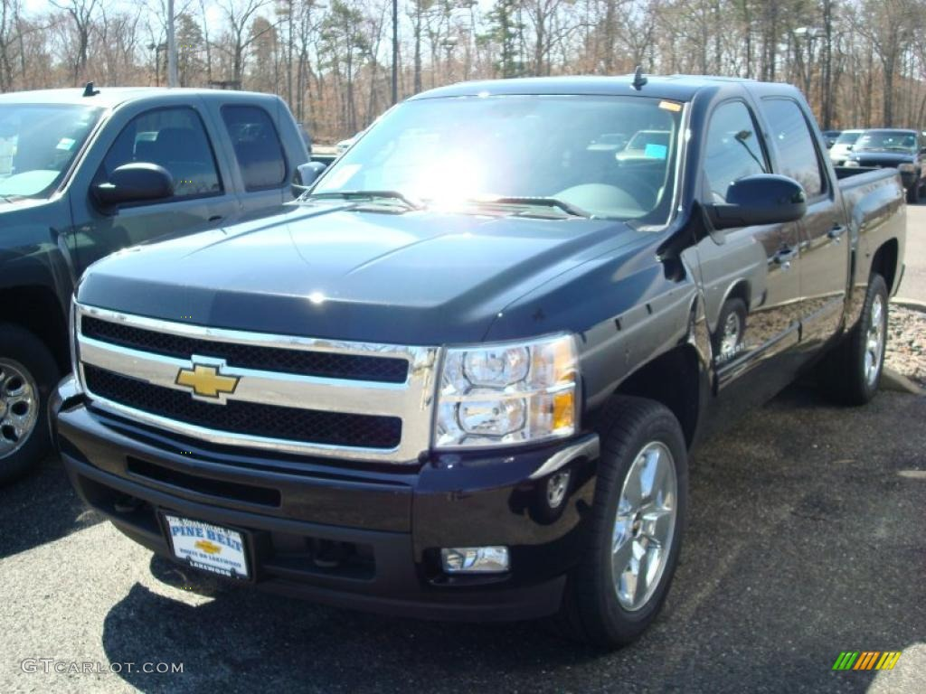 2011 Silverado 1500 LTZ Crew Cab 4x4 - Black / Ebony photo #1