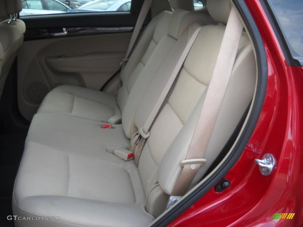 2011 Sorento LX AWD - Spicy Red / Beige photo #12