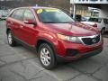 2011 Spicy Red Kia Sorento LX AWD  photo #20