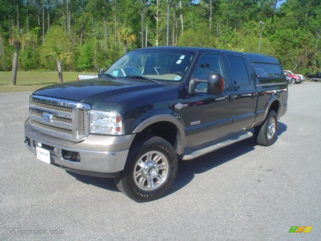 2006 dark green satin metallic ford f250 super duty lariat. Black Bedroom Furniture Sets. Home Design Ideas