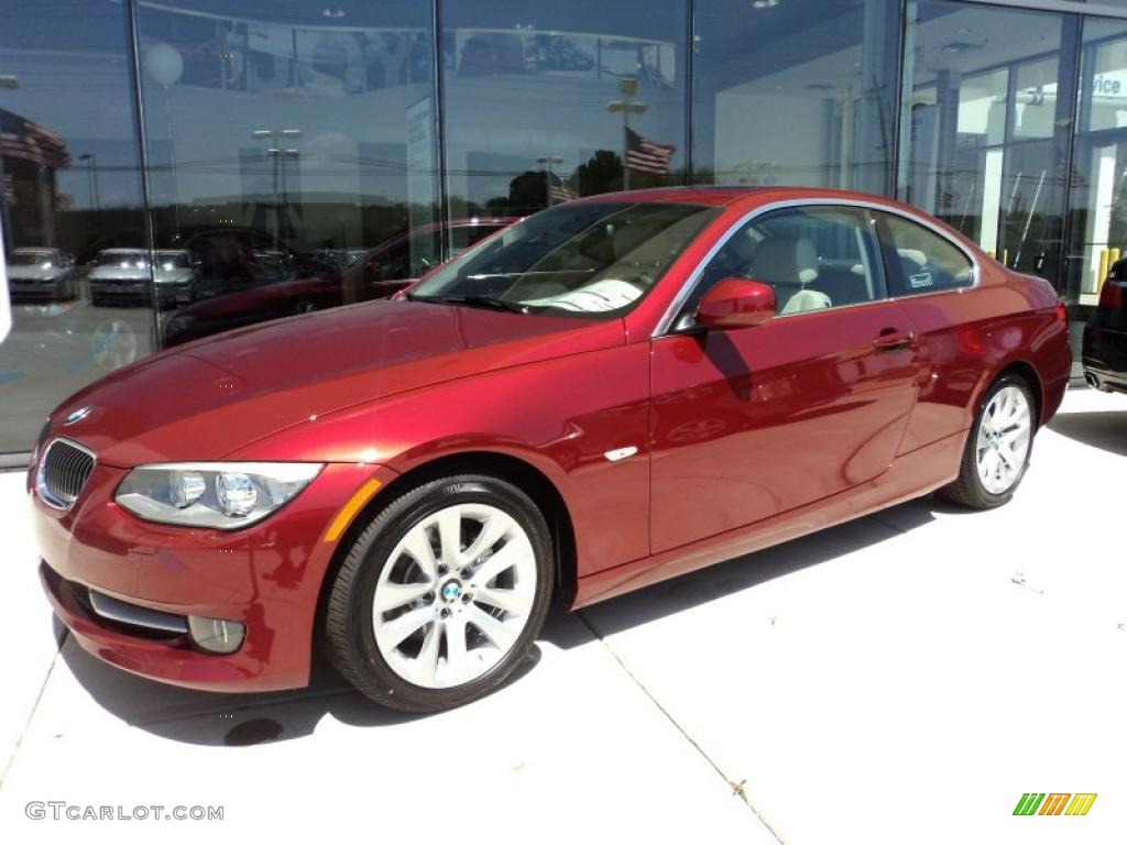 Vermillion Red Metallic BMW Series I Coupe - Bmw 328i red