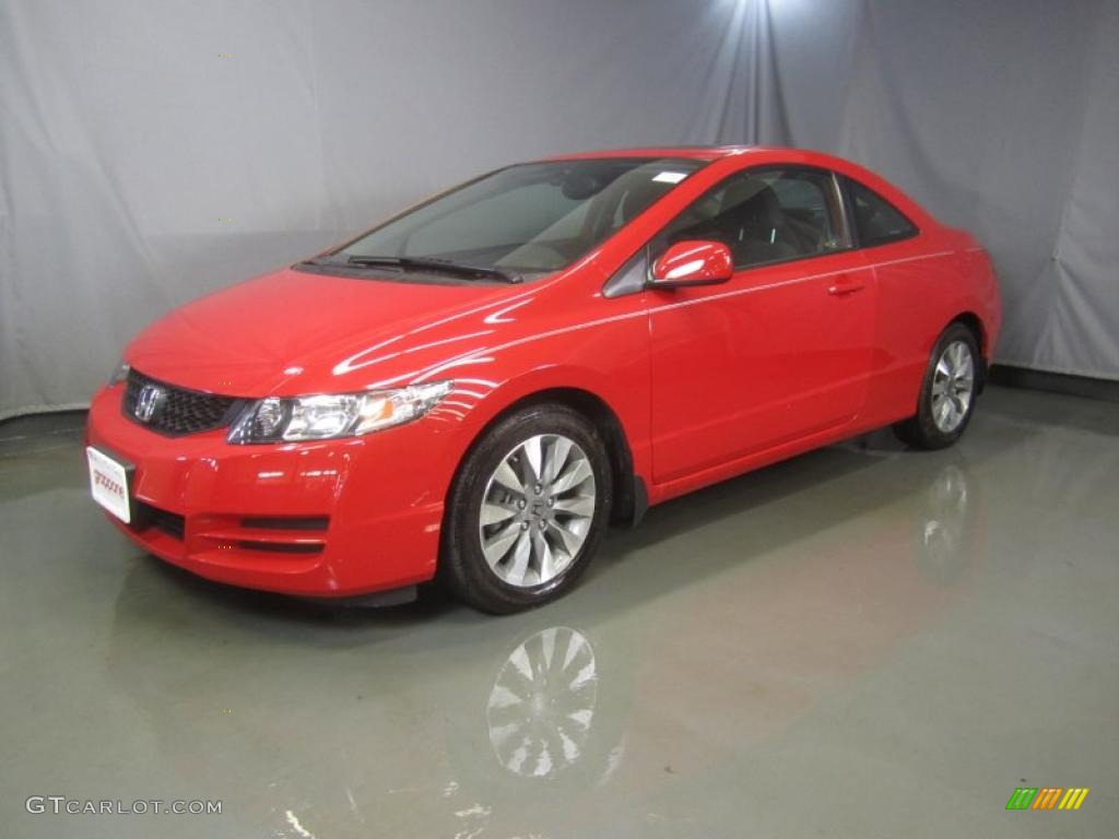 2010 rallye red honda civic ex coupe 47906166 gtcarlot. Black Bedroom Furniture Sets. Home Design Ideas