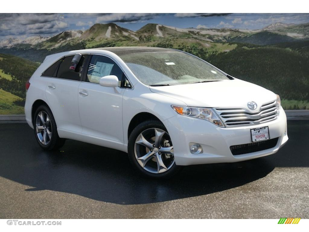 2011 blizzard pearl white toyota venza v6 awd 47905592. Black Bedroom Furniture Sets. Home Design Ideas