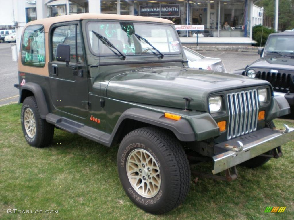 Moss Green Pearl 1995 Jeep Wrangler S 4x4 Exterior Photo 47926746