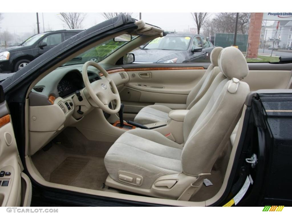 Ivory Interior 2002 Toyota Solara Se Convertible Photo