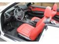 2008 1 Series 128i Convertible Coral Red Interior