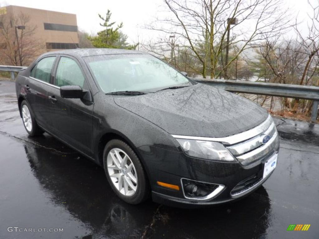 2011 Fusion SEL - Tuxedo Black Metallic / Charcoal Black photo #1