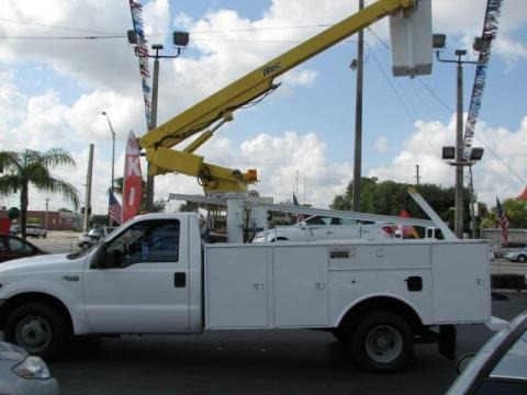 1999 Ford F350 Super Duty XL Regular Cab Chassis Utllity Bucket Data, Info and Specs