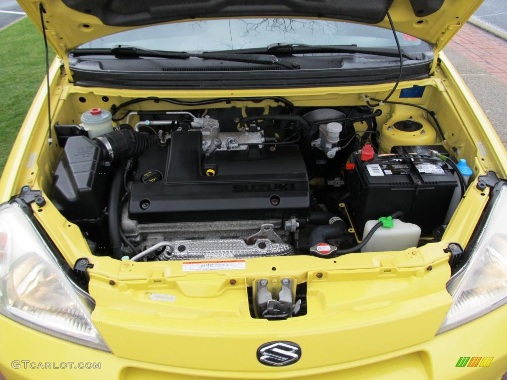 Dodge Sx 20 06 2003 Suzuki Aerio Gs Sedan In Electric Yellow Click To See Large Awd Sport Wagon Liter Dohc 16 Valve 4 Cylinder Engine