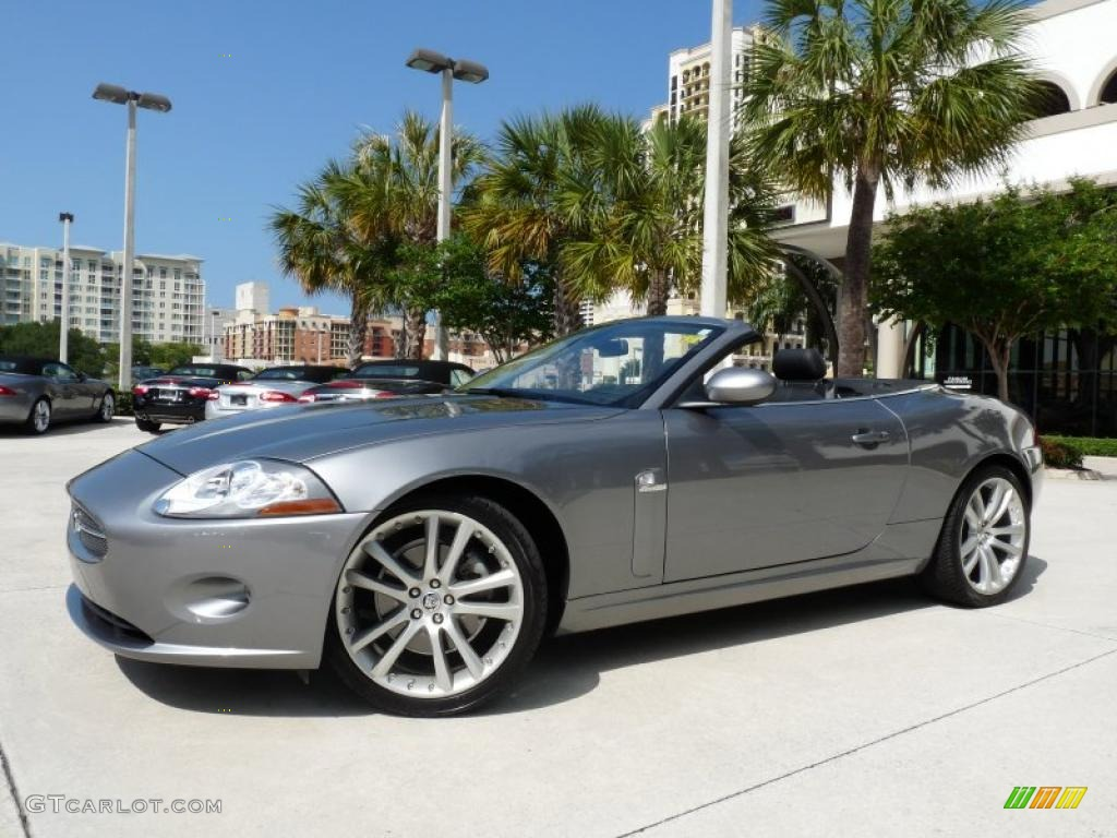 2007 lunar grey metallic jaguar xk xk8 convertible. Black Bedroom Furniture Sets. Home Design Ideas