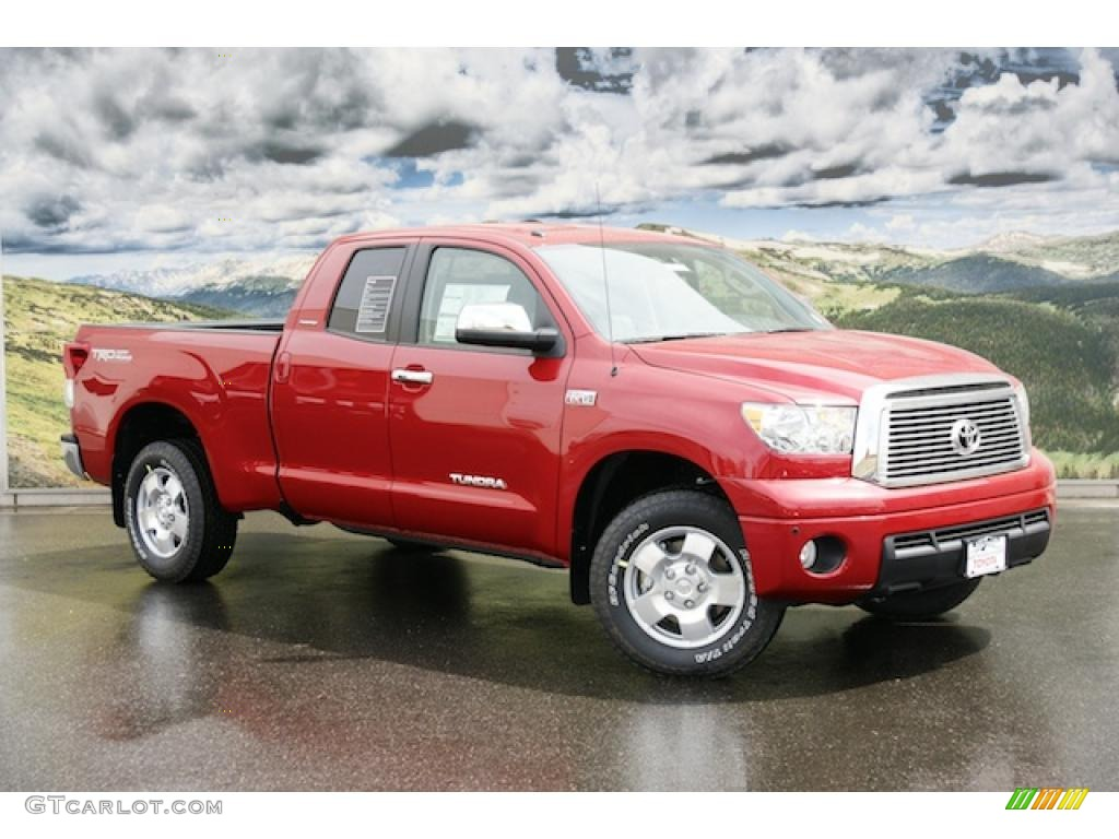 2011 barcelona red metallic toyota tundra limited double cab 4x4 47965645 car. Black Bedroom Furniture Sets. Home Design Ideas