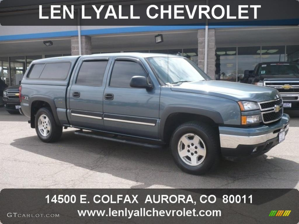 2006 blue granite metallic chevrolet silverado 1500 z71 crew cab 4x4 47965850. Black Bedroom Furniture Sets. Home Design Ideas