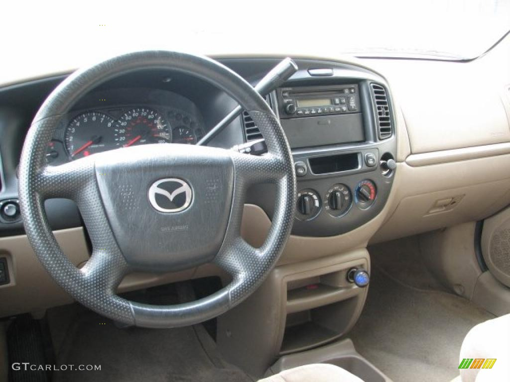 beige interior 2001 mazda tribute dx v6 4wd photo. Black Bedroom Furniture Sets. Home Design Ideas