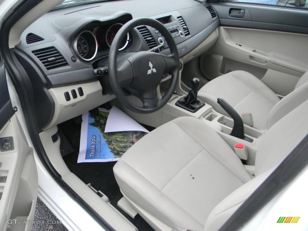 Beige Interior 2009 Mitsubishi Lancer De Photo 47992434 Gtcarlot Com