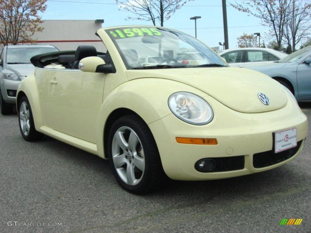 2006 mellow yellow volkswagen new beetle 2 5 convertible 47965684 car color. Black Bedroom Furniture Sets. Home Design Ideas