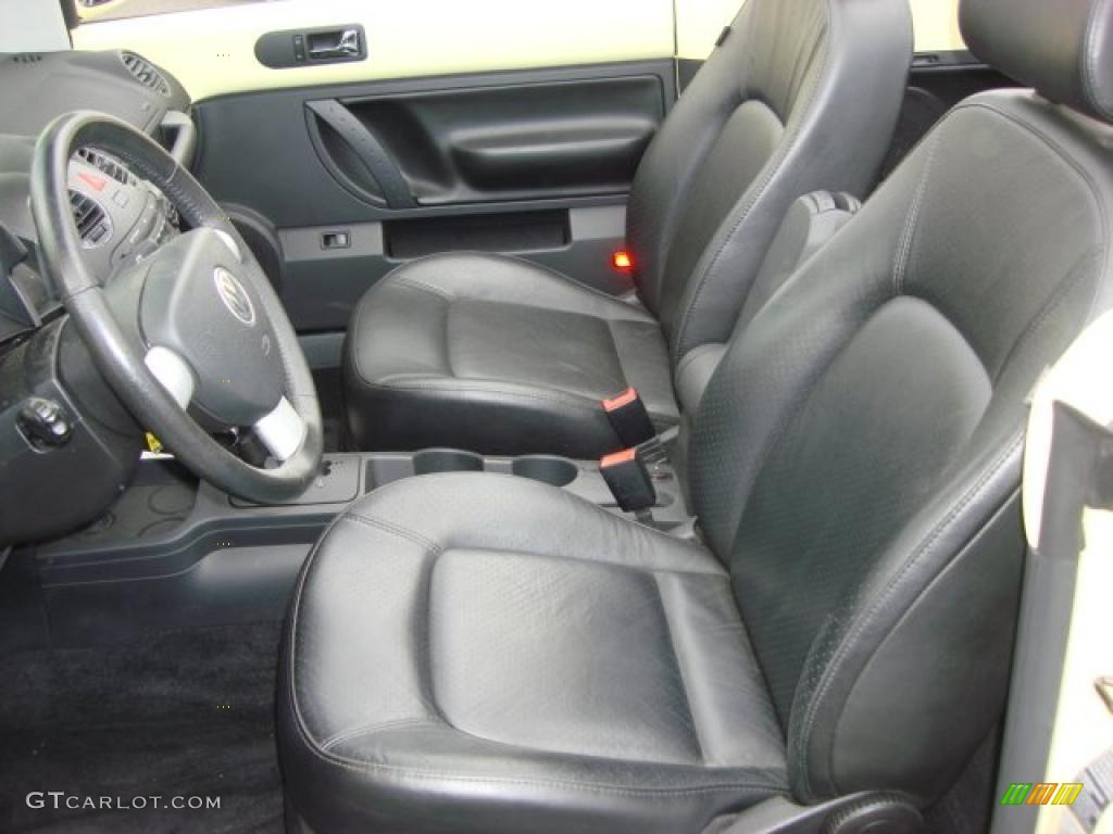 Black Interior 2006 Volkswagen New Beetle 2 5 Convertible Photo 47993994