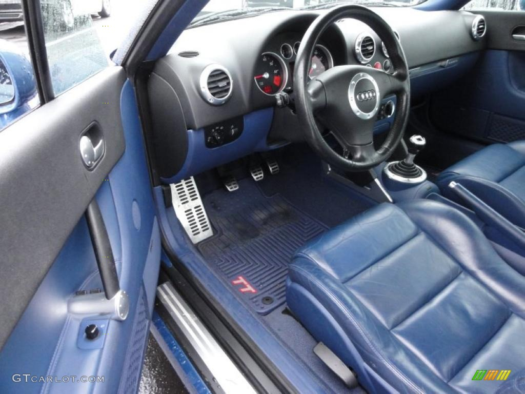 denim blue interior 2002 audi tt 1 8t quattro coupe photo 48018212