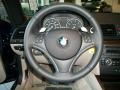2010 BMW 1 Series Taupe Interior Steering Wheel Photo