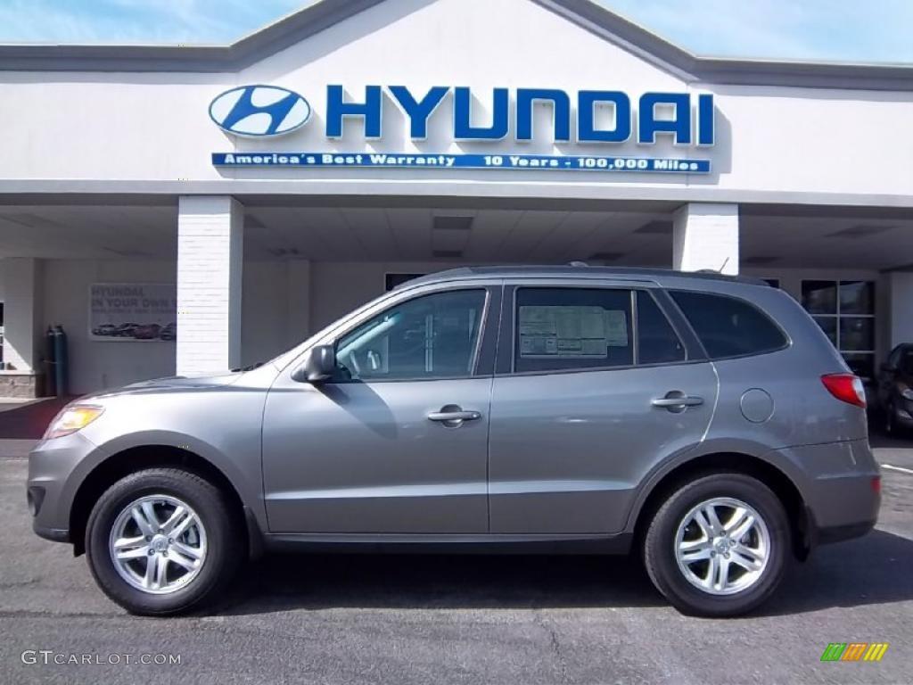 2011 Mineral Gray Hyundai Santa Fe Gls 48025444