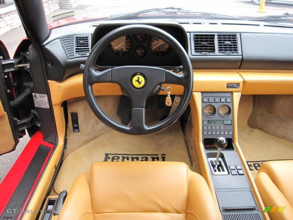 1992 Ferrari 348 Tb Tan Dashboard Photo 48032024