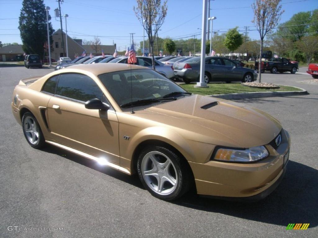 sunburst gold metallic 2000 ford mustang gt coupe exterior. Black Bedroom Furniture Sets. Home Design Ideas