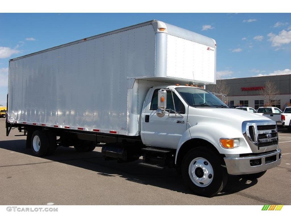 oxford white ford  super duty xl chassis regular cab moving truck  gtcarlot