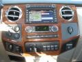 2009 Ford F250 Super Duty Medium Stone/Dark Rust Interior Navigation Photo