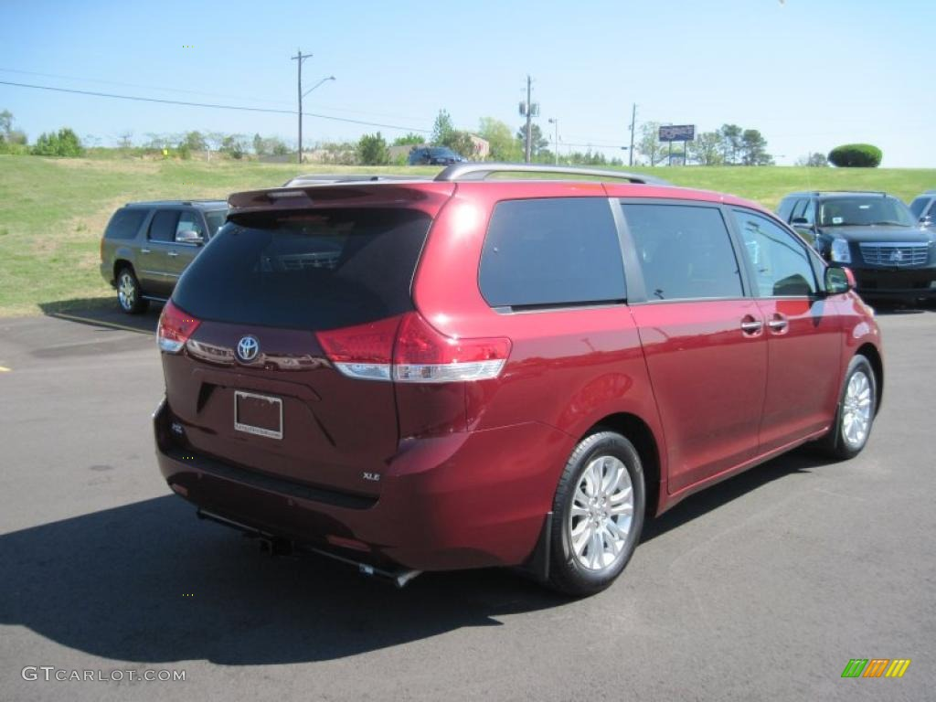 2011 salsa red pearl toyota sienna xle 48025877 photo 5 Toyota Sienna Color Code Location White Toyota Sienna