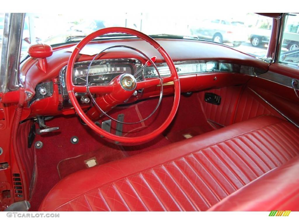 Red Interior 1954 Cadillac Series 62 2 Door Convertible Photo 48096565