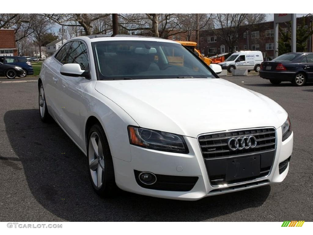 Ibis White 2010 Audi A5 2 0t Quattro Coupe Exterior Photo