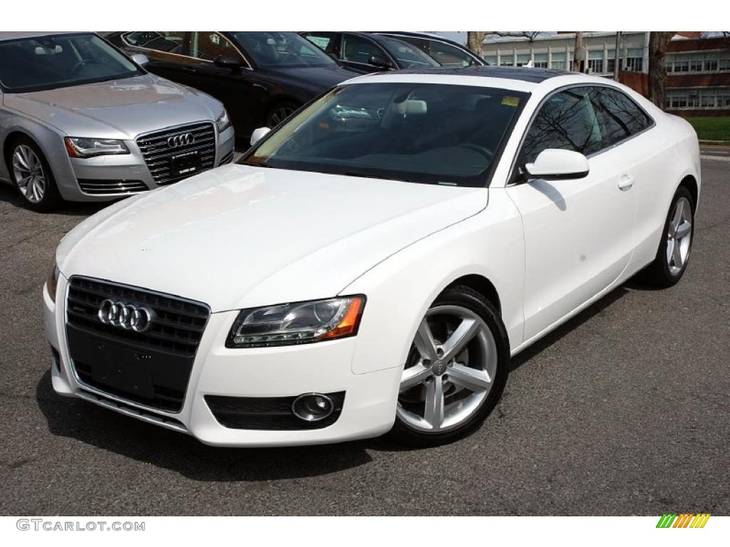 ibis white 2010 audi a5 2 0t quattro coupe exterior photo 48097612. Black Bedroom Furniture Sets. Home Design Ideas