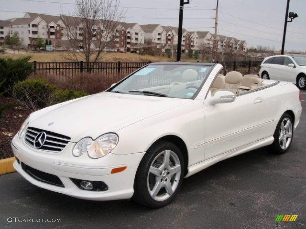 2005 alabaster white mercedes benz clk 500 cabriolet for Mercedes benz clk 500