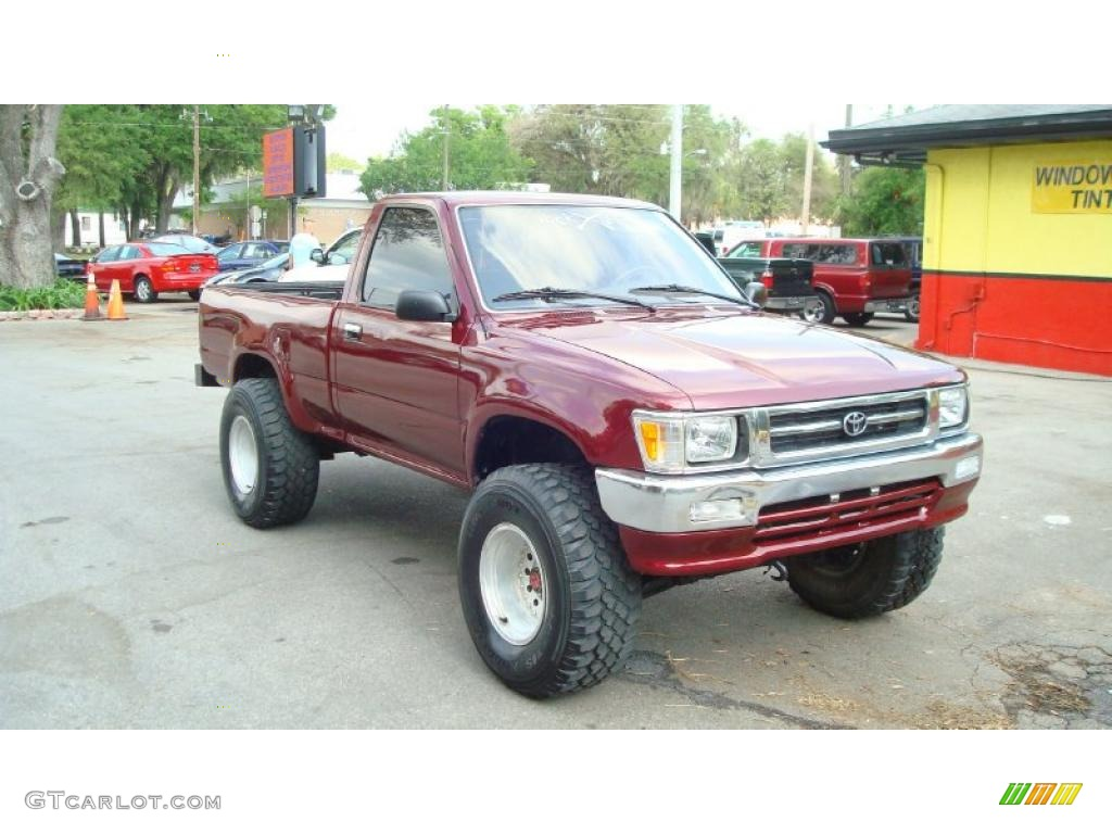 1992 Garnet Red Pearl Toyota Pickup Deluxe Regular Cab 4x4 48099877 Gtcarlot Com Car Color Galleries